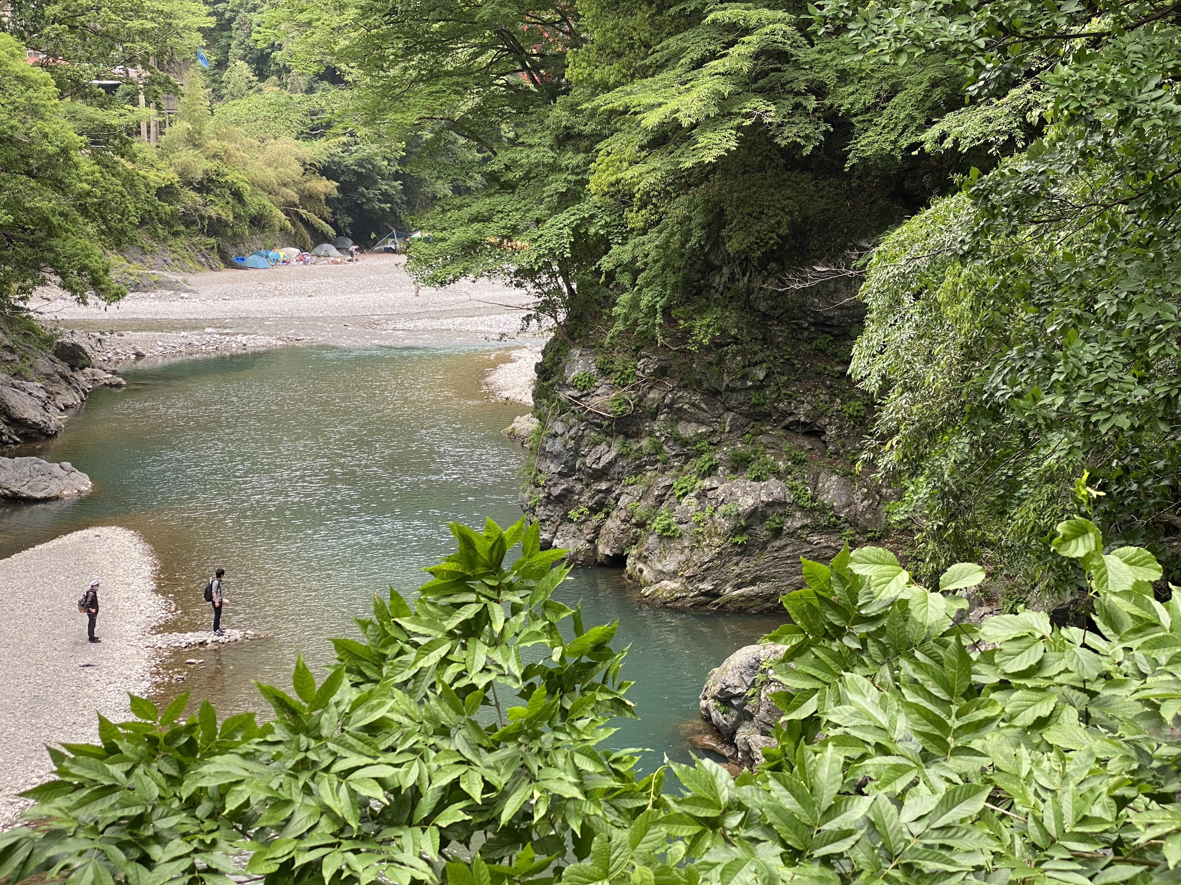 登計橋から多摩川下流を眺める