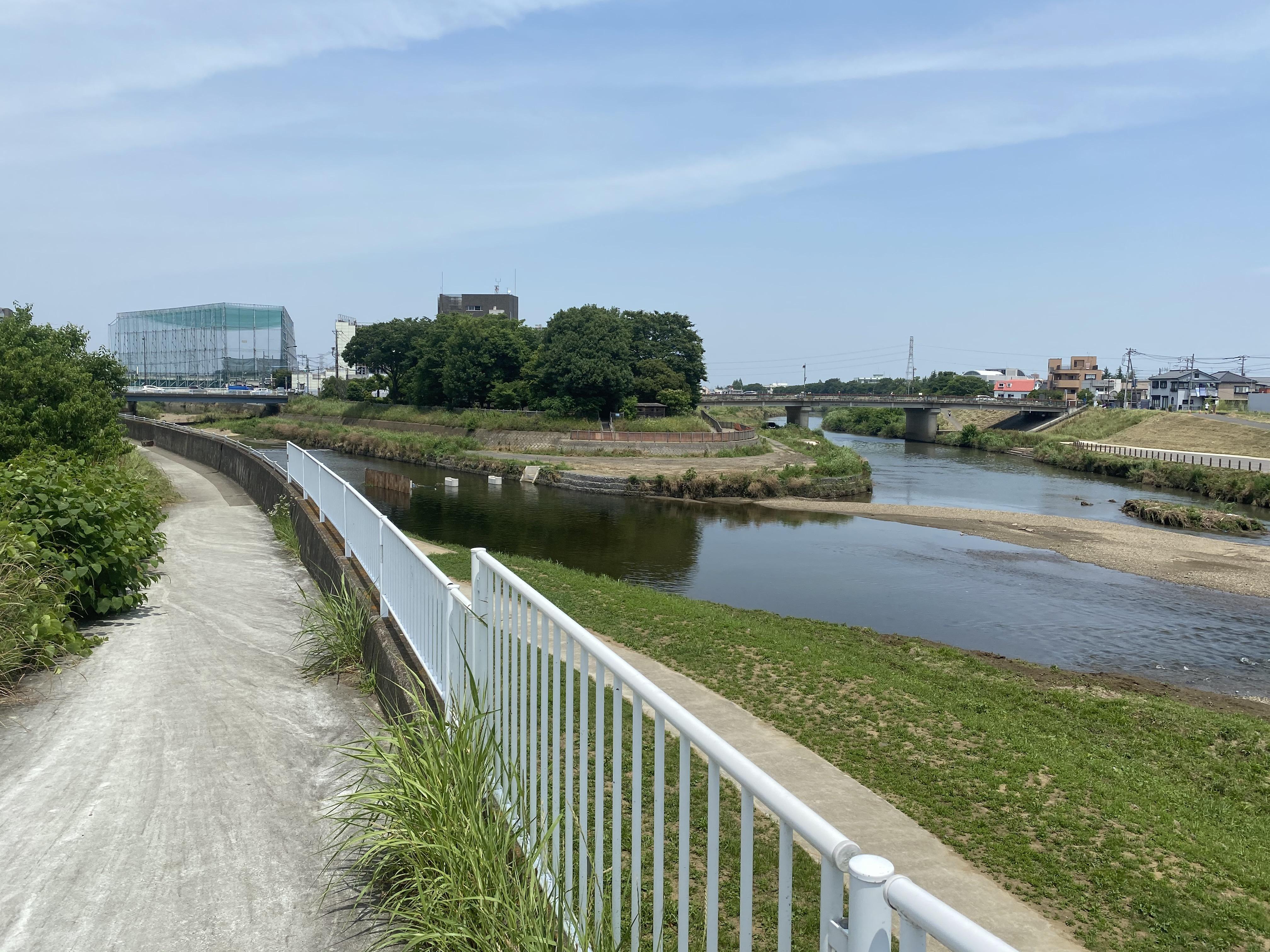 新河岸川・綾瀬川合流地点