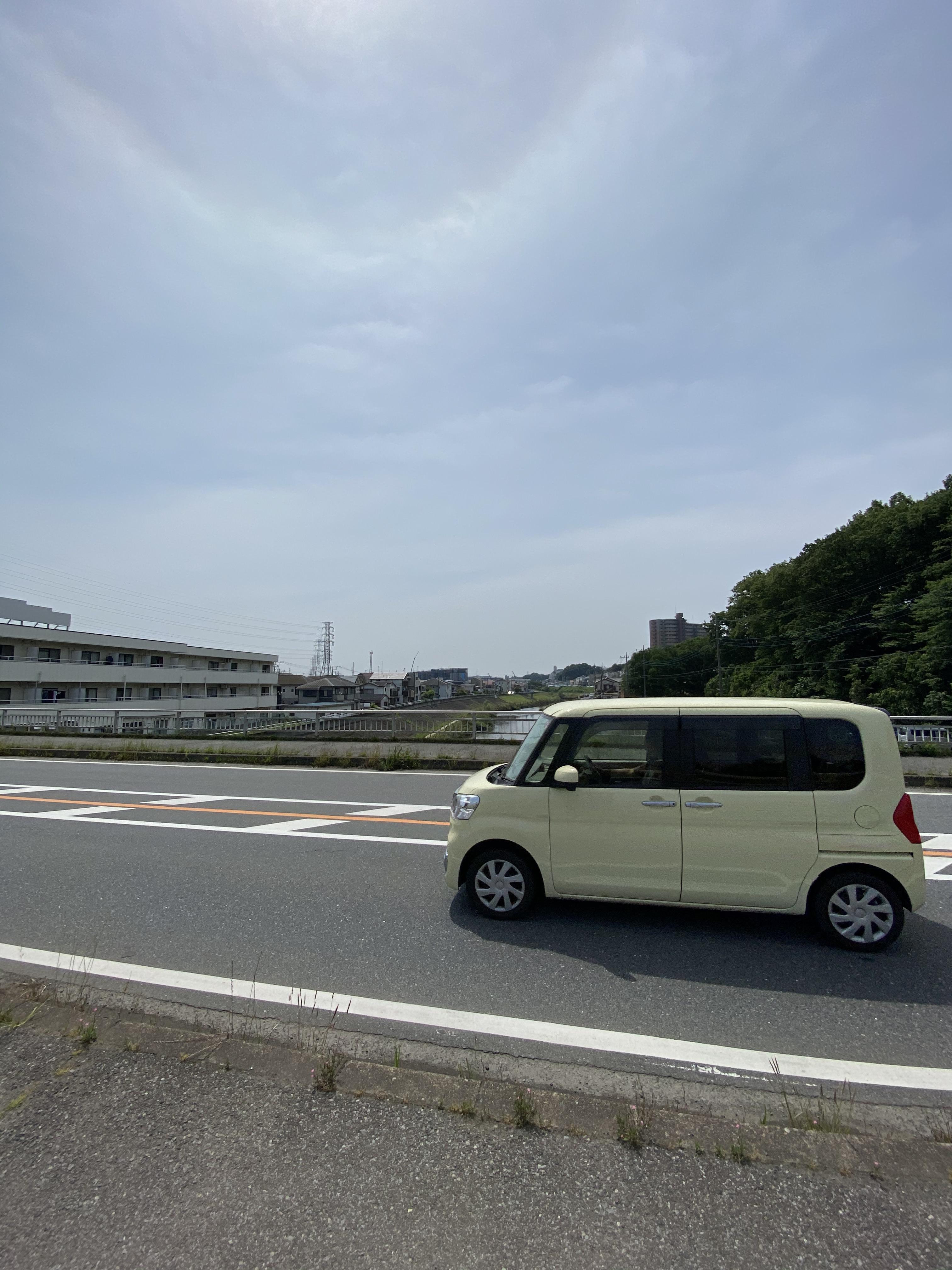 黒目川(花ノ木橋(城山通り))から下流を眺める