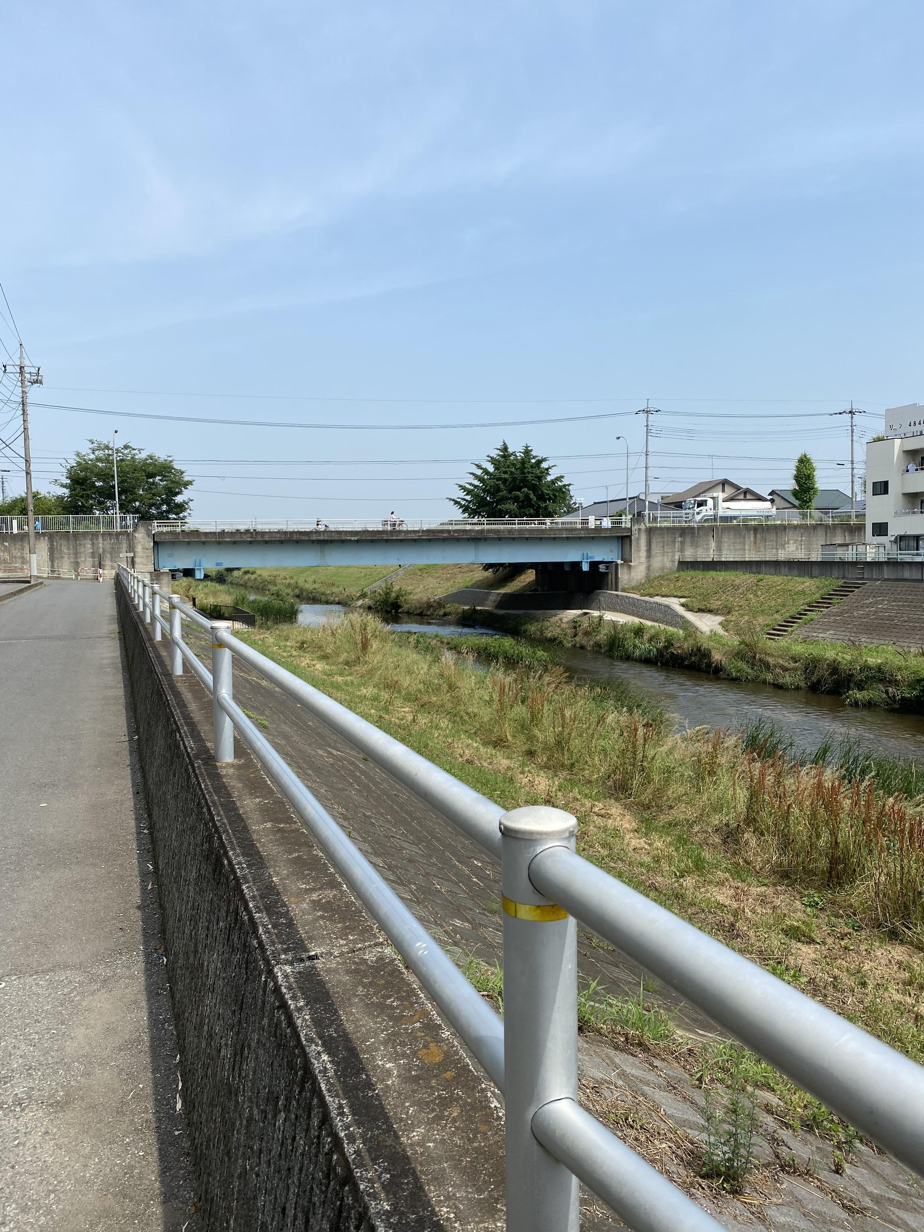 黒目川(花ノ木橋(城山通り))