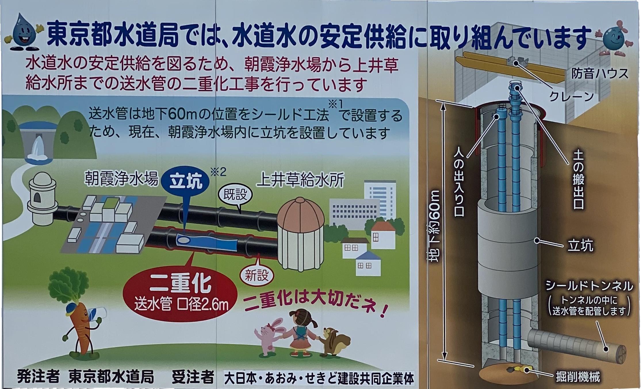 東京都水道局では、水道水の安定供給に 取り組んでいます。