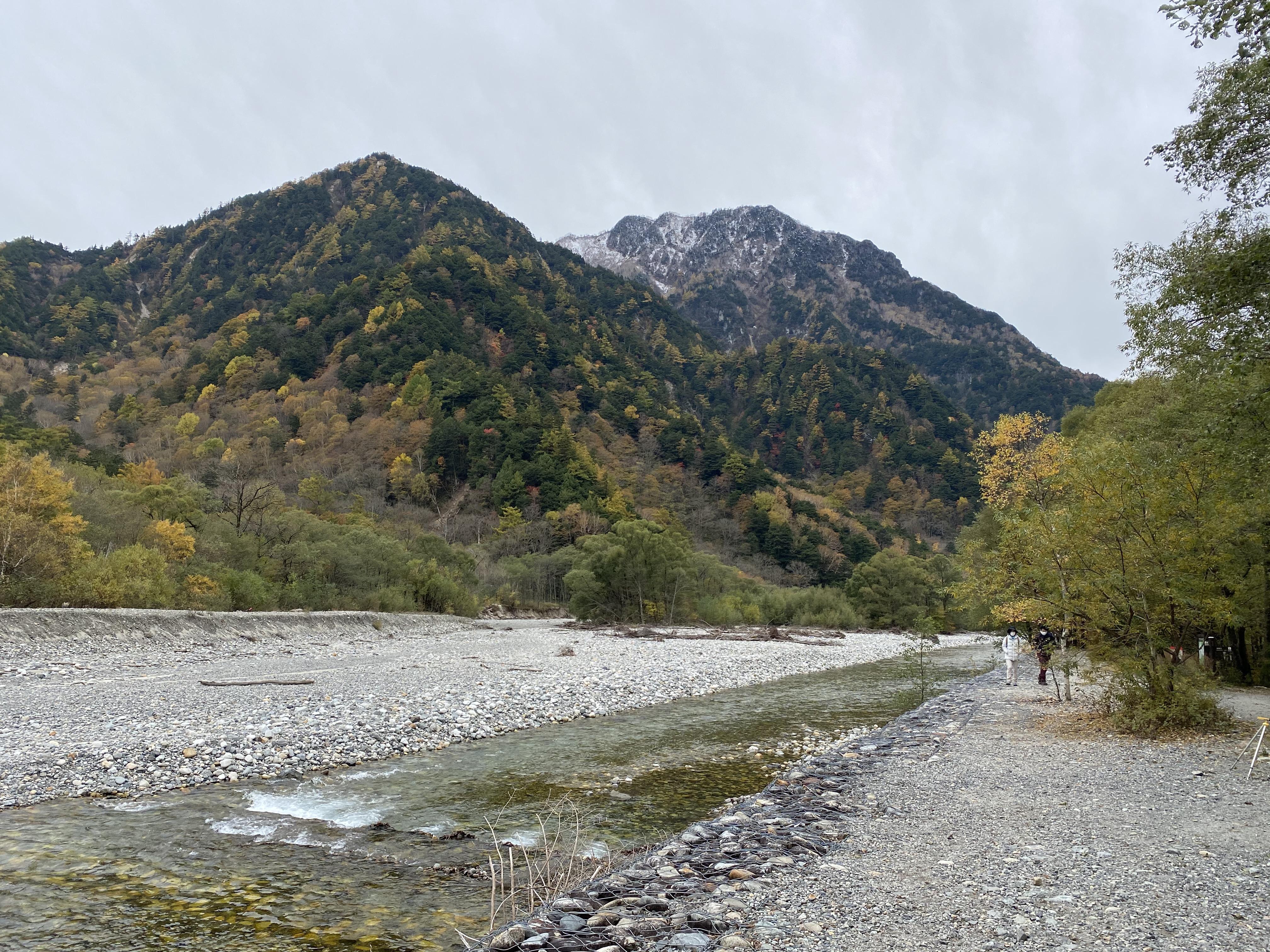 梓川右岸から左岸を撮影