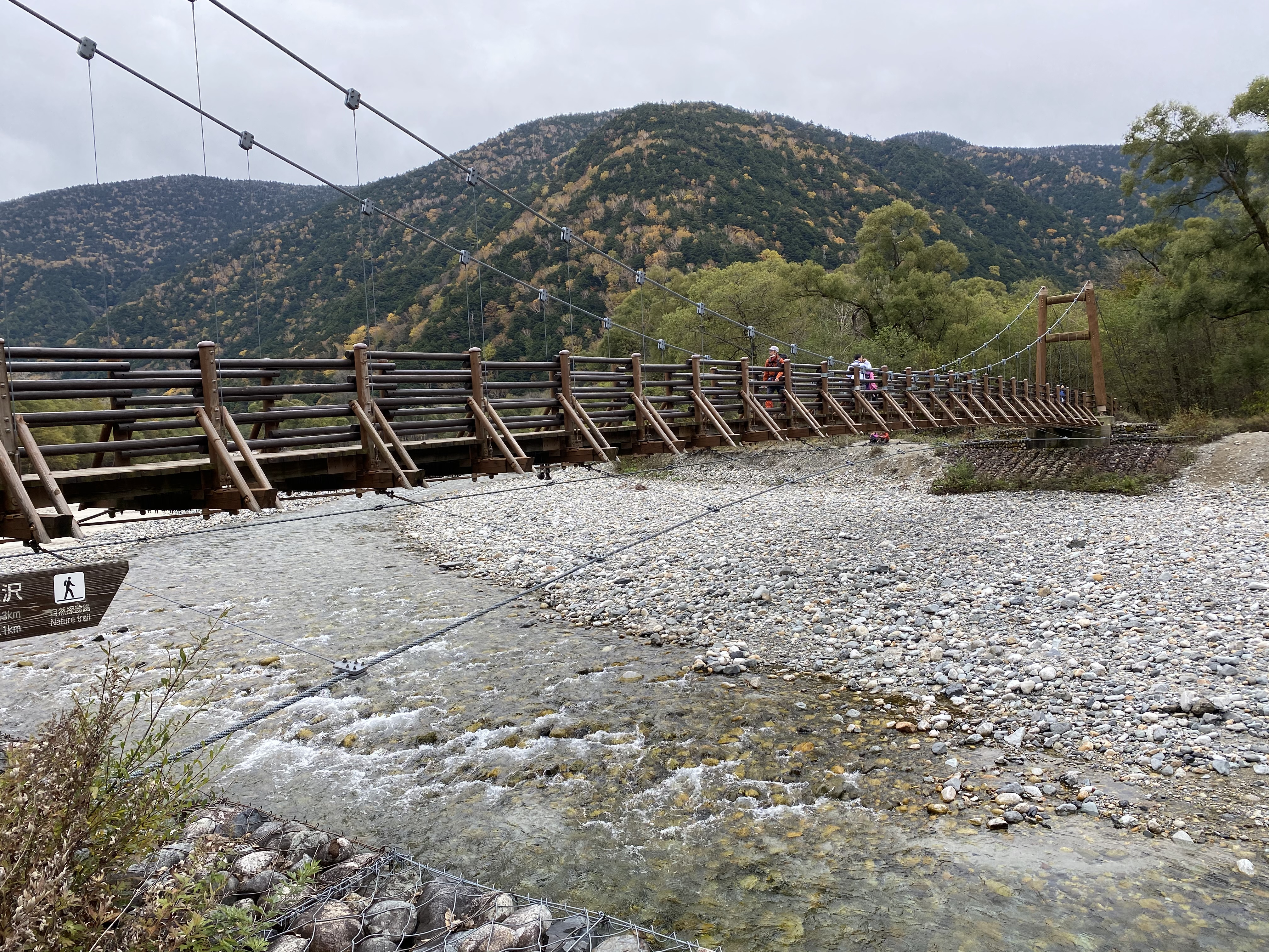 梓川右岸から明神橋